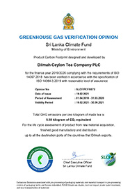 Greenhouse Gas Verification Opinion - Sri Lanka Climate Fund