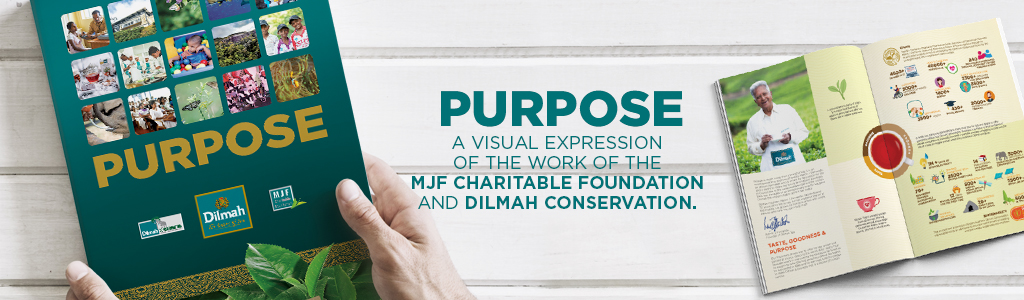Dilmah Purpose book banner